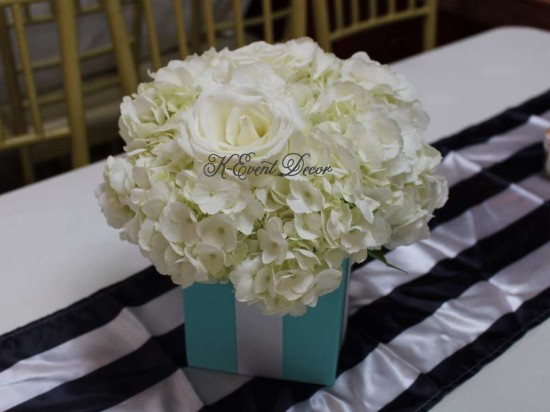 Tiffany Themed Baby Shower florals