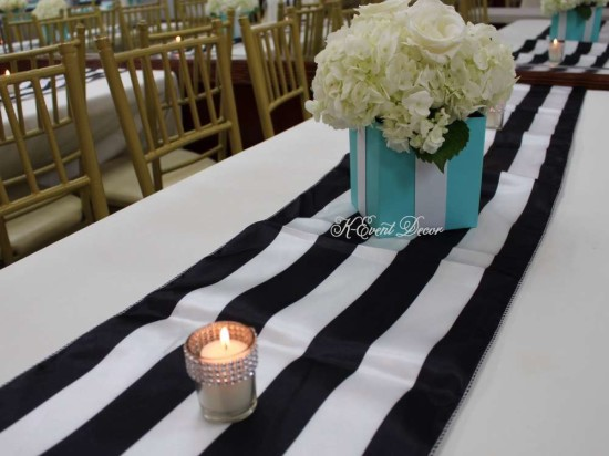 Tiffany Themed Baby Shower guest table setting