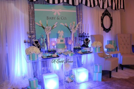 Tiffany Themed Baby Shower lights