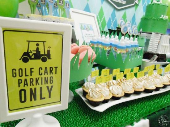 golf cart parking only sign