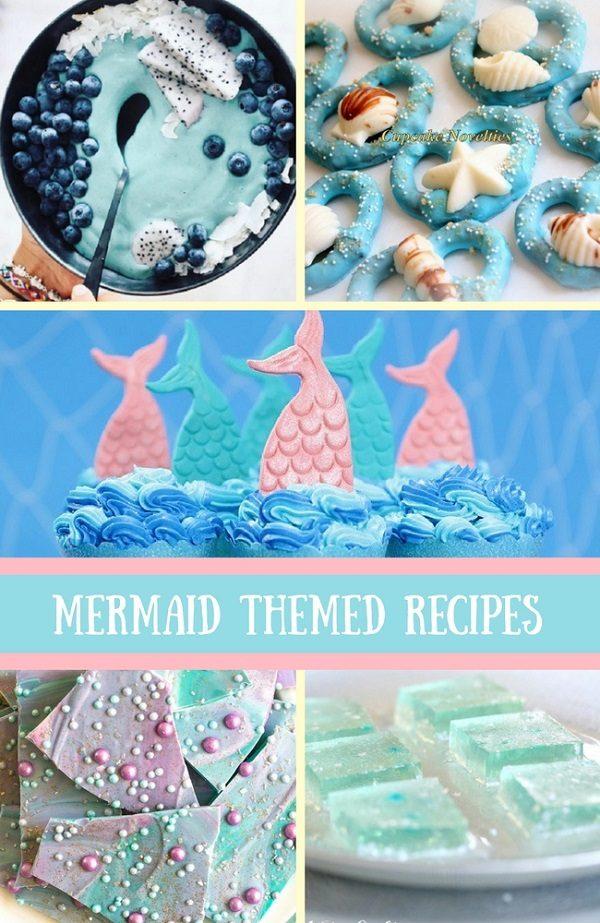 mermaid baby shower food
