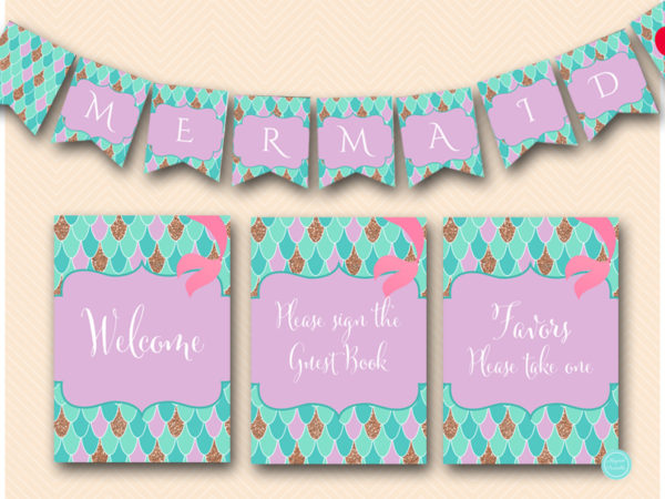 mermaid-baby-shower-signs-mermaid-banner-labels