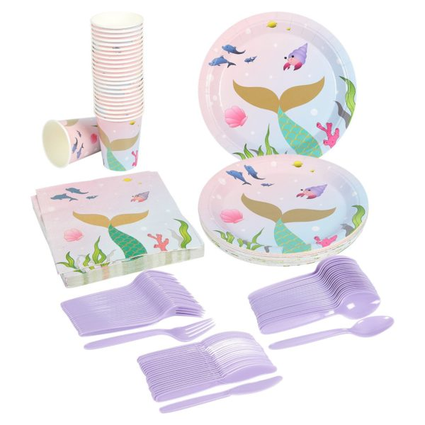 mermaid-baby-shower-tableware-supplies