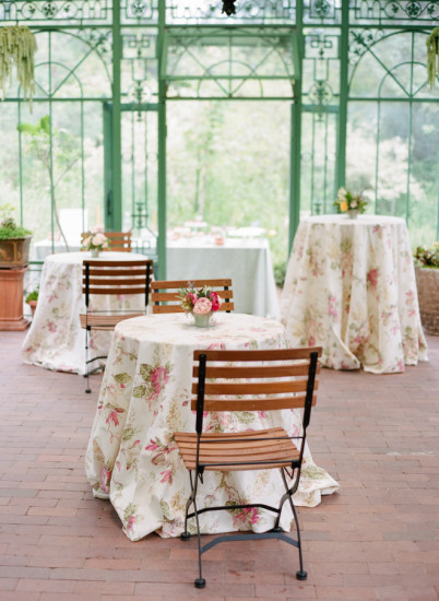 outdoor Garden Baby Shower table setting