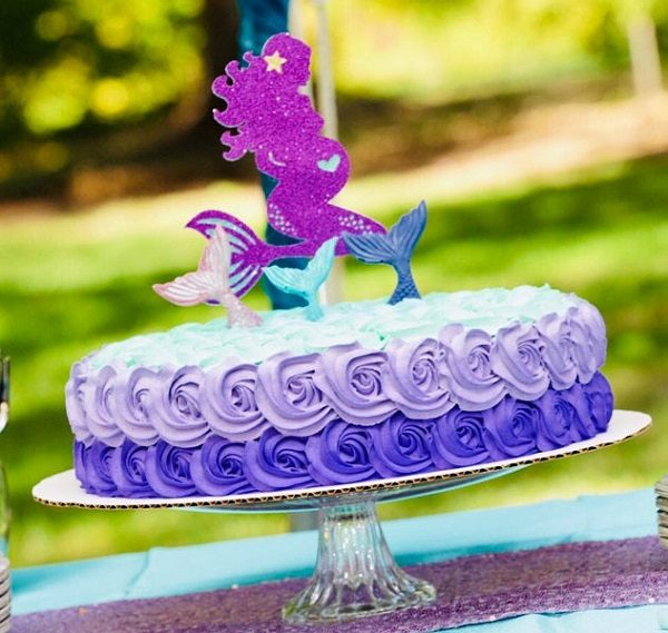 purple glitter pregnant mermaid