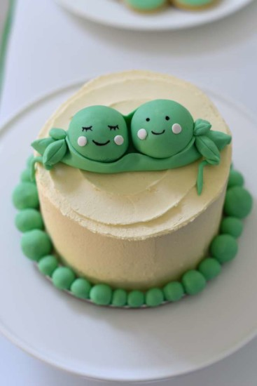 sweet two peas in a pod simple cake