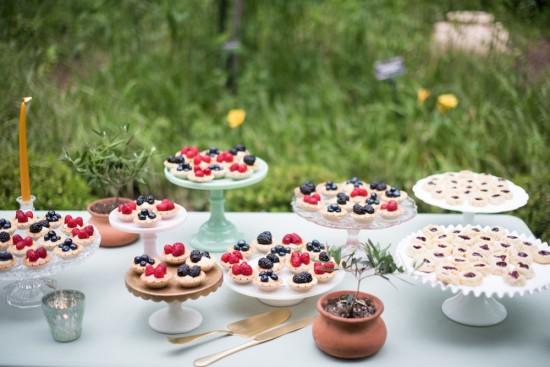 vintage Garden Baby Shower desserts