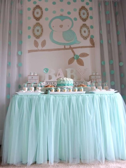 welcome-home-owl-baby-shower-ideas-aqua-tutu-skirts