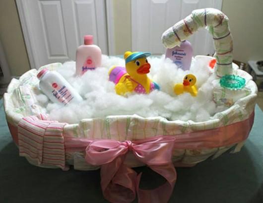 Diaper Bathtub. baby shower centerpiece