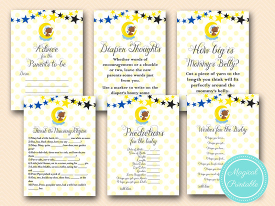 Twinkle Twinkle Little Stars How I Wonder What You Are Gender Reveal Baby Shower games