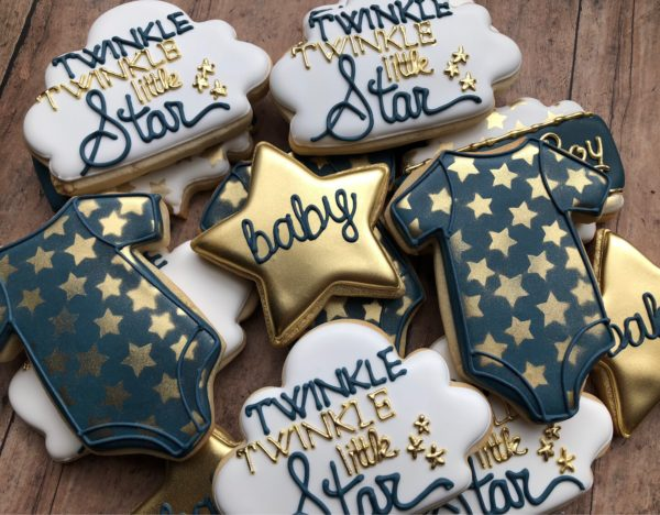 twinkle-little-star-baby-shower-sugar-cookies-navy-and-gold
