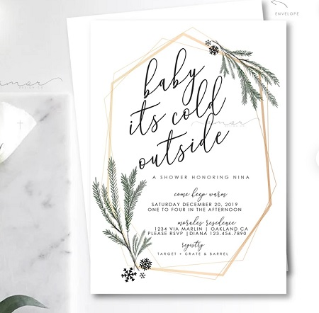 baby its cold outside invitation