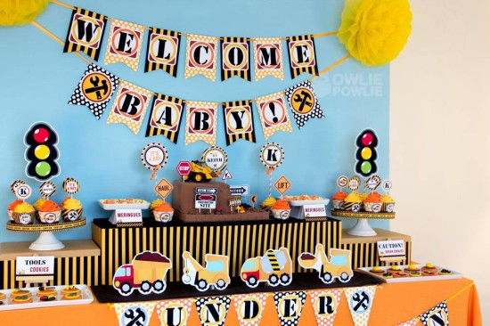 baby-under-construction-baby-shower dessert table