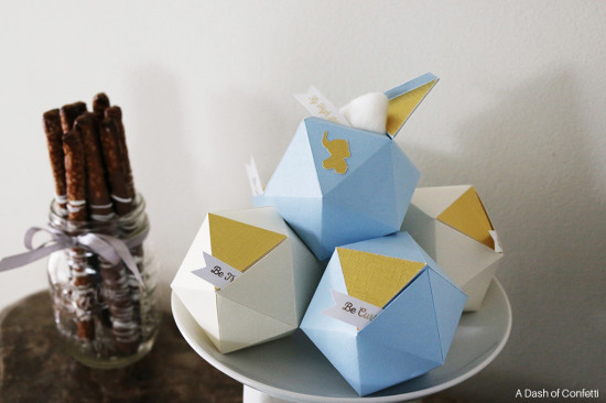 geometric baby shower boxes
