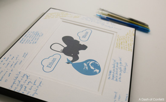 lovely-elephant-themed-baby-shower guestbook