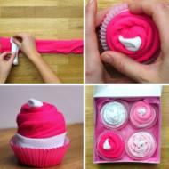 DIY Onesie Cupcakes