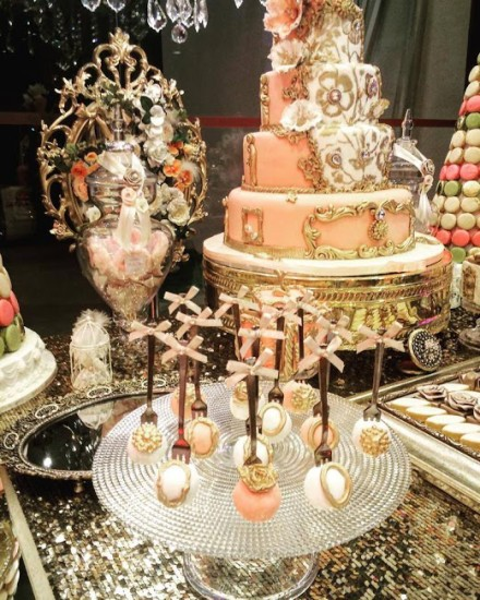 pink princess baby shower cake pops