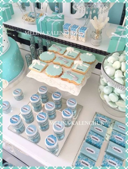 tiffany-baby-shower cookies