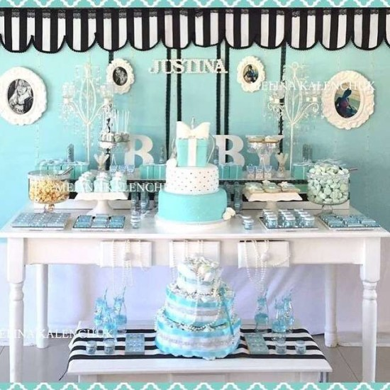 tiffany-baby-shower decorations