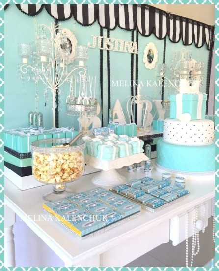 tiffany baby shower ideas decorations