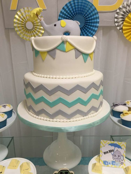 Baby-Shower-Elephants-Cake