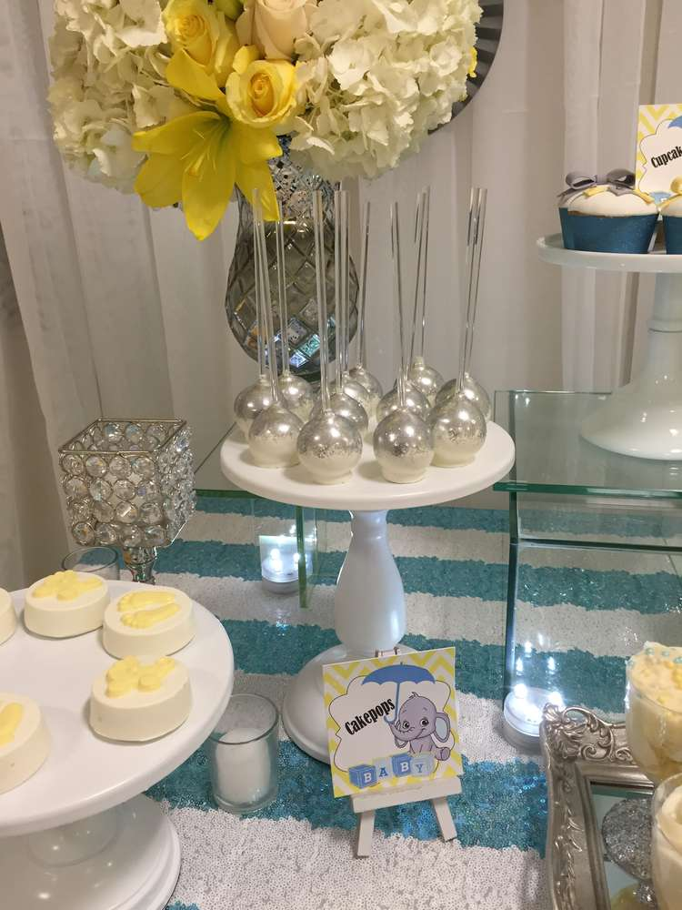 Glam Elephant Baby Shower - Baby Shower Ideas - Themes