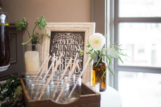 birch tree pattern paper straws