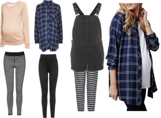 casual checkered materinity fashion clothings