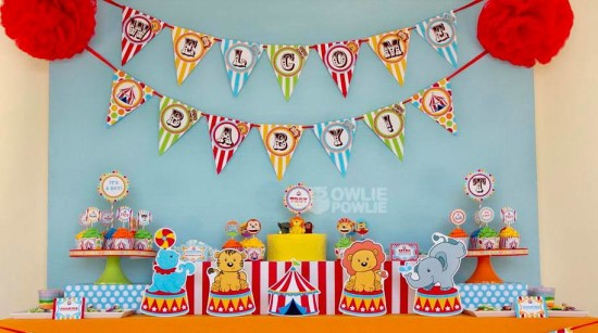 circus-carnival-baby-shower decoration ideas