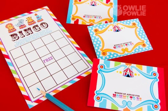 circus-carnival-baby-shower games