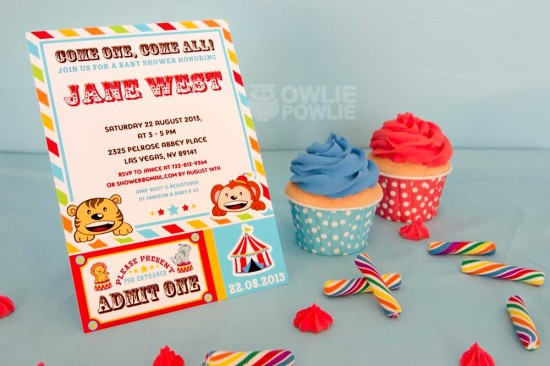 circus-carnival-baby-shower invitation