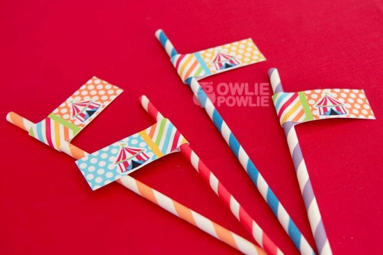 circus-carnival-baby-shower straw toppers