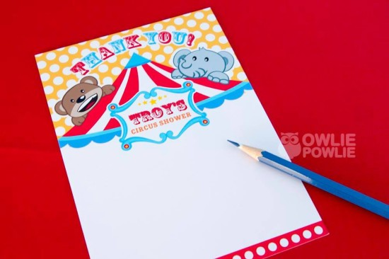 circus-carnival-baby-shower thank you cards