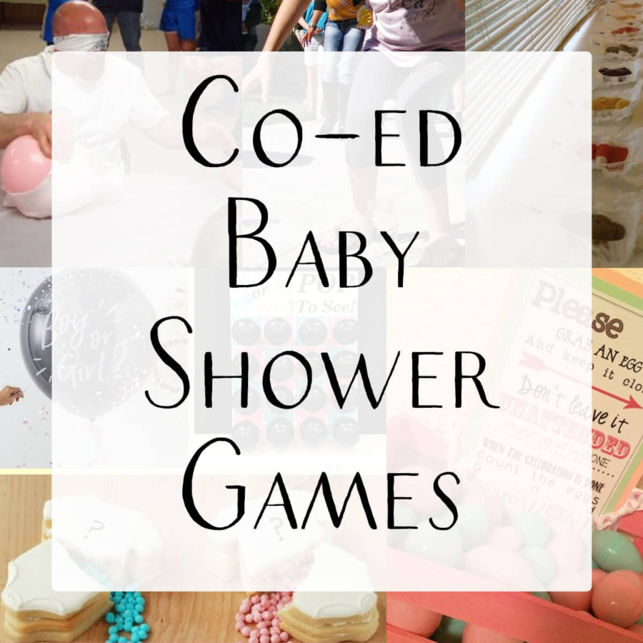 coed baby shower game options