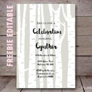 free-editable-woodland-baby-shower-invitation-birch-tree-invitation-wooland-invitation