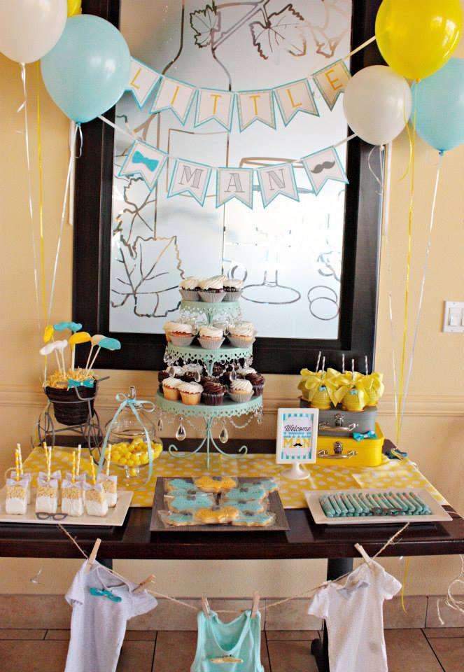 Little Man Baby Shower Baby Shower Ideas 4U