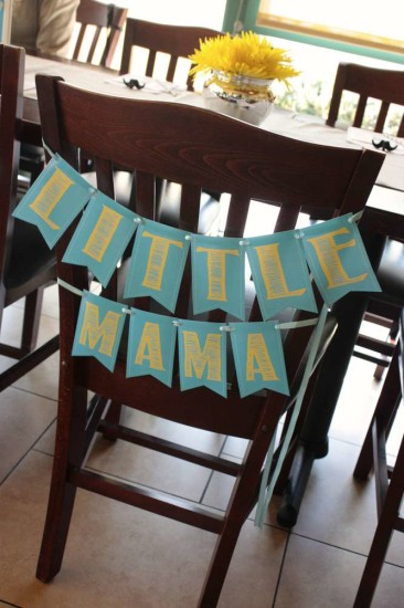 little man baby shower mommy to be chair