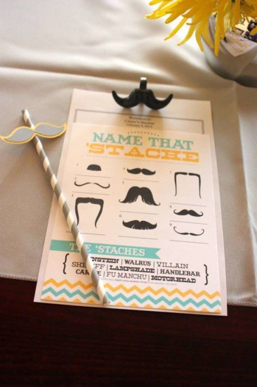 name that baby shower mustache game