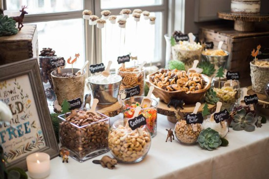 wooland-boho-baby-shower-food ideas table