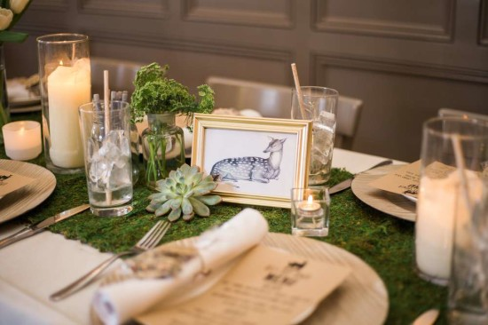 wooland-boho-baby-shower-guest table