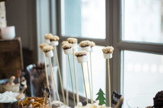 wooland-boho-baby-shower-marshmallow treats