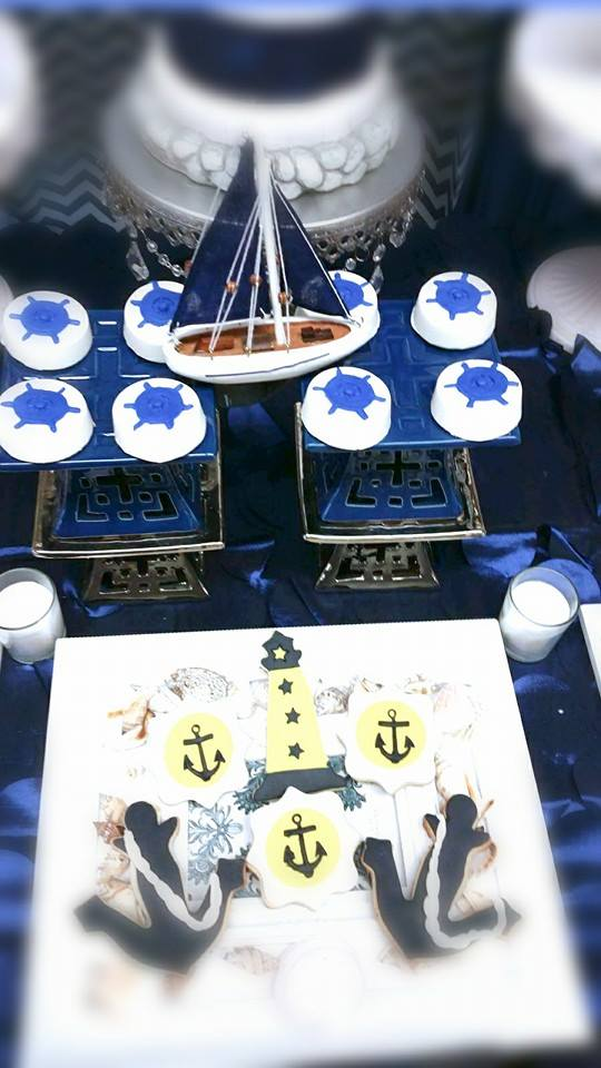 Blue-and-White-Nautical-Baby-Shower-Boat-Decoration