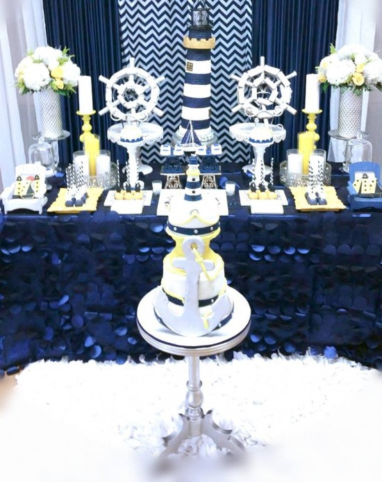 Blue-and-White-Nautical-Baby-Shower-Dessert-Display