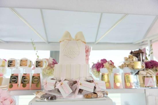 Elegant-Pastel-French-Patisserie-Baby-Shower-Cake