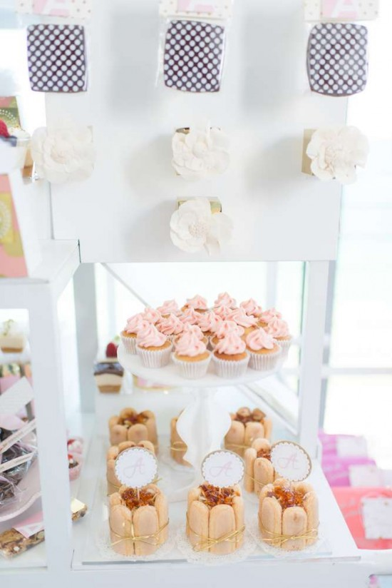 Elegant-Pastel-French-Patisserie-Baby-Shower-Cupcakes