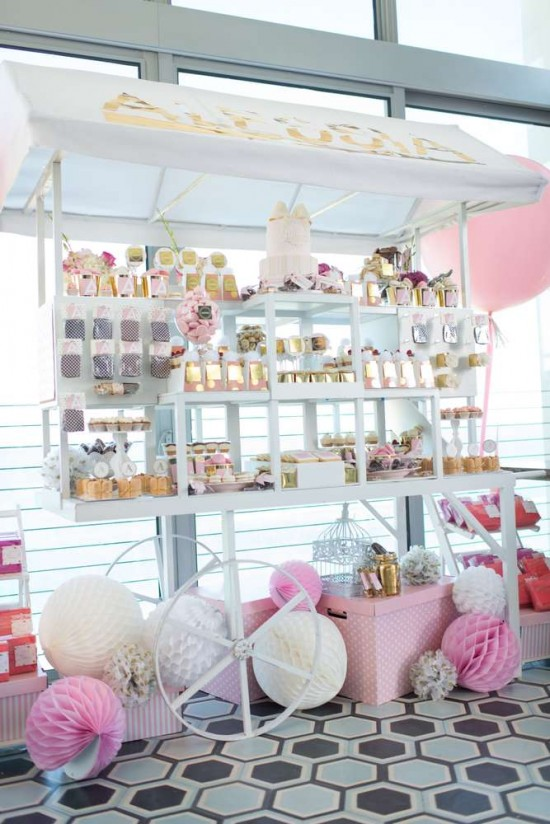 Elegant-Pastel-French-Patisserie-Baby-Shower-Treats-Table