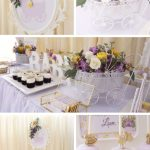 Elegant Yellow and Purple Baby Shower