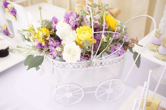 Elegant-Yellow-and-Purple-Baby-Shower-Carriage