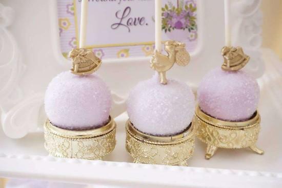 Elegant-Yellow-and-Purple-Baby-Shower-Decorations-Treats