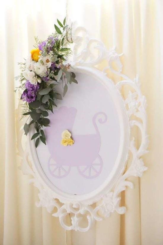 Elegant-Yellow-and-Purple-Baby-Shower-Mirror-Art